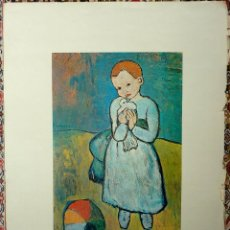 Varios objetos de Arte: LAMINA CHILD WITH A DOVE DE PICASSO 1901. Lote 47829816