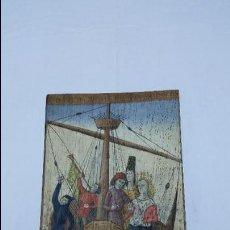 Varios objetos de Arte: PINTURA TIPO MEDIEVAL SOBRE MADERA DE ROBLE. Lote 47837296