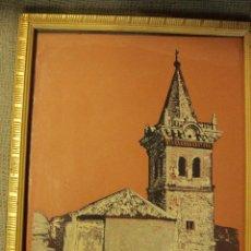 Varios objetos de Arte: ANTIGUO CUADRO TERRAGRAFÍA, IGLESIA DEL SALVADOR - YECLA - 36X26CM ENMARCADO -REF015-. Lote 48108768