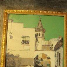 Varios objetos de Arte: ANTIGUO CUADRO TERRAGRAFÍA- YECLA ?? - 29X26CM ENMARCADO -REF015-. Lote 48108884