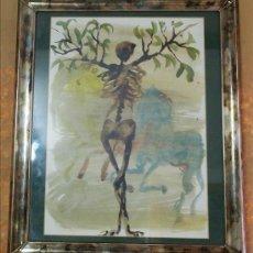 Varios objetos de Arte: LÁMINA DE MIQUEL BARCELÓ. LA DIVINA COMEDIA. ENMARCADA. Lote 48470870