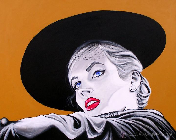 Anita ekberg pintura acrilico sobre lienzo 80 comprar - Acrilico sobre lienzo ...