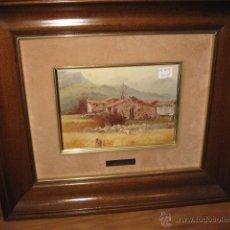 Varios objetos de Arte: CUADRO - ESMALTE - PINTOR AMOROS MEDIDA 40 X 35 CM. ESMALTE 19 X 13 CM.. Lote 48574069