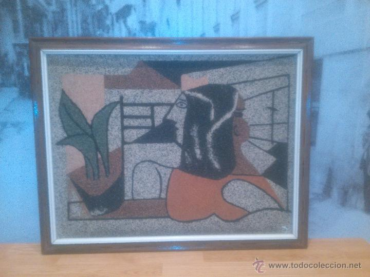 IMPRESIONANTE CUADRO REALIZADO EN GRANITO (MINUSCULAS PIEDRAS) UNICO RARO ESTUDIAMOS OFERTAS (Arte - Varios Objetos de Arte)