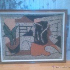 Varios objetos de Arte: IMPRESIONANTE CUADRO REALIZADO EN GRANITO (MINUSCULAS PIEDRAS) UNICO RARO ESTUDIAMOS OFERTAS. Lote 49142203