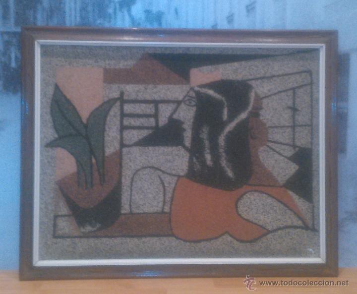 Varios objetos de Arte: IMPRESIONANTE CUADRO REALIZADO EN GRANITO (MINUSCULAS PIEDRAS) UNICO RARO ESTUDIAMOS OFERTAS - Foto 2 - 49142203