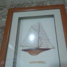 Varios objetos de Arte: CUADRO VELERO EN RELIEVE ENMARCADO. Lote 49164083