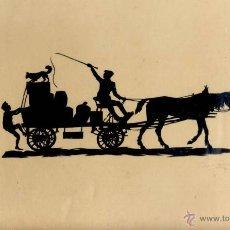 Varios objetos de Arte: SILUETA FIRMADA POSIBLEMENTE DE ALEMANIA. Lote 49183143
