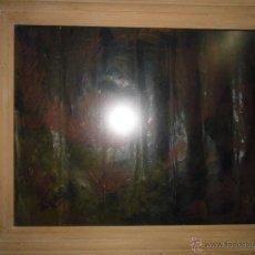Varios objetos de Arte: INTERESANTE PINTURA ANTIGUA ABSTRACTO FIRMA ILIGIBLE OLEO EN LIENZO MEDIADOS DE SIGLO. Lote 49372526