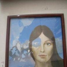 Varios objetos de Arte: CUADRO ANTIGUO MOTIVO MUJER . Lote 49433600