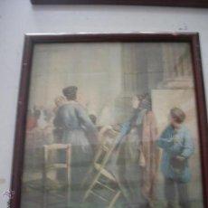 Varios objetos de Arte: CUADRO ANTIGUO FIRMADO . Lote 49433696
