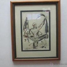 Varios objetos de Arte: CUADRO CON MARCO+CRISTAL-PASPARTÚS-MIGUEL SERRANO(CROMA)-CORUÑA-2001-48X39.30X21 CMS-MUY BUEN EST. Lote 49516796