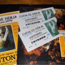 Varios objetos de Arte: CUEVAS DE NERJA, FESTIVALES 1978. ANTONIO Y SU TEATRO FLAMENCO. CUEVA. Lote 49539949