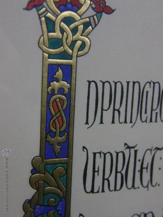 Varios objetos de Arte: gouache y dorado letra capitular in principio trabajo indio 32,3x24,3cms - Foto 3 - 49543461