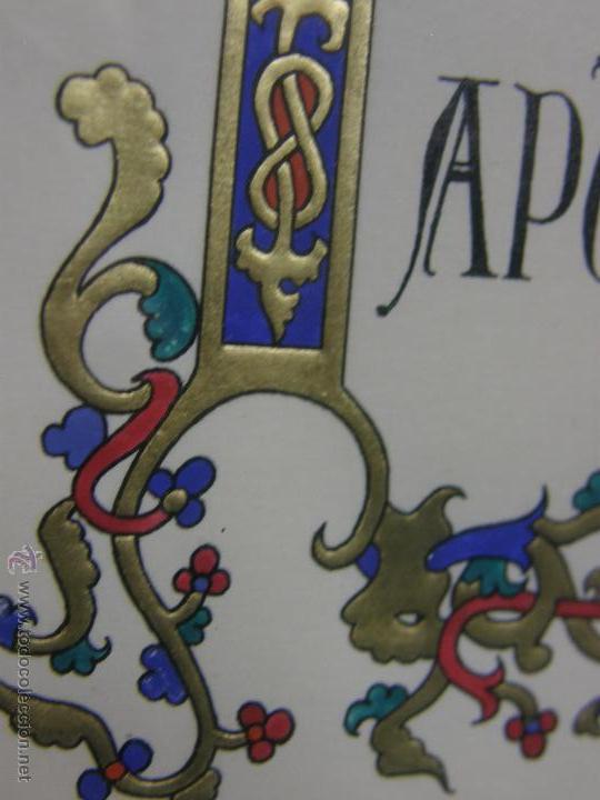 Varios objetos de Arte: gouache y dorado letra capitular in principio trabajo indio 32,3x24,3cms - Foto 4 - 49543461