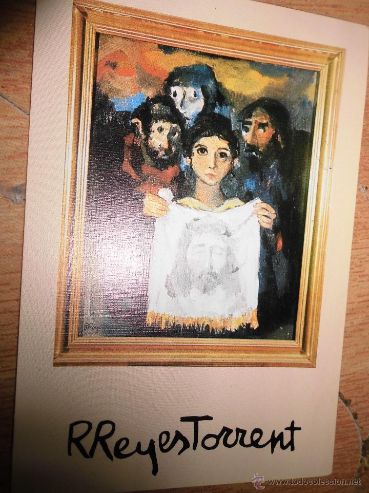 PINTURA MADRILEÑA TARJETA ORIGINAL DEFUNCION DEL PINTOR RAFAEL REYES TORRENT 1984 (Arte - Varios Objetos de Arte)