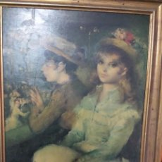 Varios objetos de Arte: 2 CUADROS ÌMPRESOS SOBRE MADERA FIRMADOS POR EL PINTOR PUYAT. Lote 49595202