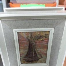 Varios objetos de Arte: 2 CUADROS DE PEQUEÑO TAMAÑO PINTADOS CON TECNICA DE RELIEVE.. Lote 49630871