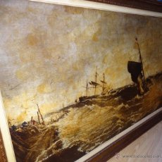 Varios objetos de Arte: ANTIGUO CUADRO NAVAL 153 X 103CM. Lote 50018885