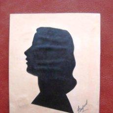 Varios objetos de Arte: SILUETA-RETRATO. FIRMADO. AÑOS 40. ENVIO INCLUIDO.. Lote 50047613