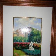 Varios objetos de Arte: INTERESANTE OLEO PINTURA ANTIGUA PLAZA DE CATALUÑA BARCELONA FIRMA ILEGIBLE A ESTUDIAR ?. Lote 50282761