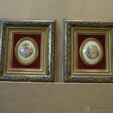 Varios objetos de Arte: PAR DE CUADROS CON ESCENAS GALANTES. Lote 50432414