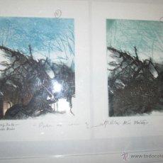 Varios objetos de Arte: CUADRO+MARCO-53,5X43,5 CMS-23PRUEBA DE AUTOR-PRUEBA DE COLOR-MARIA RITA MÁS IBAÑEZ-SOMBRAS NA NOITE-. Lote 50496152