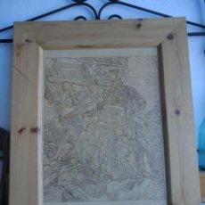 Varios objetos de Arte: CUADRO PIROGRABADO. TEMA INGLES 90 CM X 70 CM. Lote 50543147