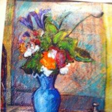 Varios objetos de Arte: PINTURA AL PASTEL DE BERNARDO GUTIERREZ. PINTADO EN 1975.. Lote 50831910