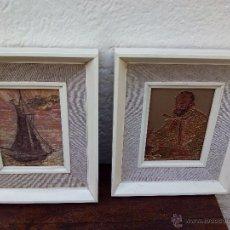 Varios objetos de Arte: LOTE DE 2 CUADROS PINTADOS CON UNA TÉCNICA CON RELIEVE.. Lote 50918982