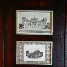 Varios objetos de Arte: CHRISTO JAVACHEFF: WRAPPED REICHSTAG / POSTAL 1ER DÍA, POSTAL 1918, FOTOGRAFÍA 1933 Y TELA. Lote 50941797