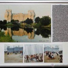 Varios objetos de Arte: CHRISTO JAVACHEFF: WRAPPED REICHSTAG / FOTOGRAFÍAS DE LA INSTALACIÓN Y TELA 17 X 10 CM. Lote 51173879