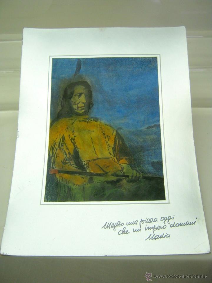 BELLA OBRA GRAN JEFE INDIOS AMERICANOS SIUX NUBE ROJA (Arte - Varios Objetos de Arte)