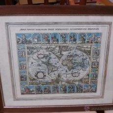 Varios objetos de Arte: MAPA MUNDI ANTIGUO. Lote 163685570