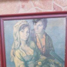 Varios objetos de Arte: ANTIGUO CUADRO CON LAMINAS,. Lote 51633447