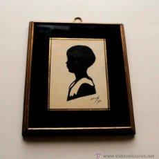 Varios objetos de Arte: SILUETA AÑOS 30. Lote 51694396
