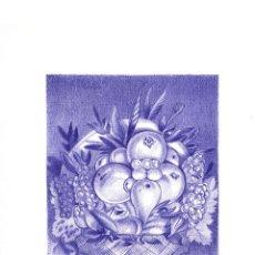 Varios objetos de Arte: IMPRESIÓN DIGITAL (TIPO LITOGRAFÍA). -CESTO DE FRUTAS/ROSTRO-. AUTOR: M. ALFARO. Lote 119609287