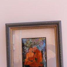 Varios objetos de Arte: CUADRO CON ESMALTE 1 FIRMADO POR MARTA. Lote 51881137