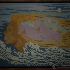 Varios objetos de Arte: PINTURA POP LIENZO OLEO FIRMADO A ORTS 70 X 53 CUADRO. Lote 52450619