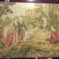 Varios objetos de Arte: TAPIZ ESCENA ROMÁNTICA. Lote 52485711