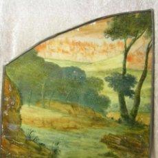 Varios objetos de Arte: VIDRIERA CON EL FONDO DE LAS CIUDADES DE SODOMA Y GOMORRA SIGLO XVII AUSTRIA CRISTALERA. Lote 52515392