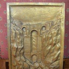 Varios objetos de Arte: CUADRO DE BRONCE DEL PUENTE DE RONDA.. Lote 52868671