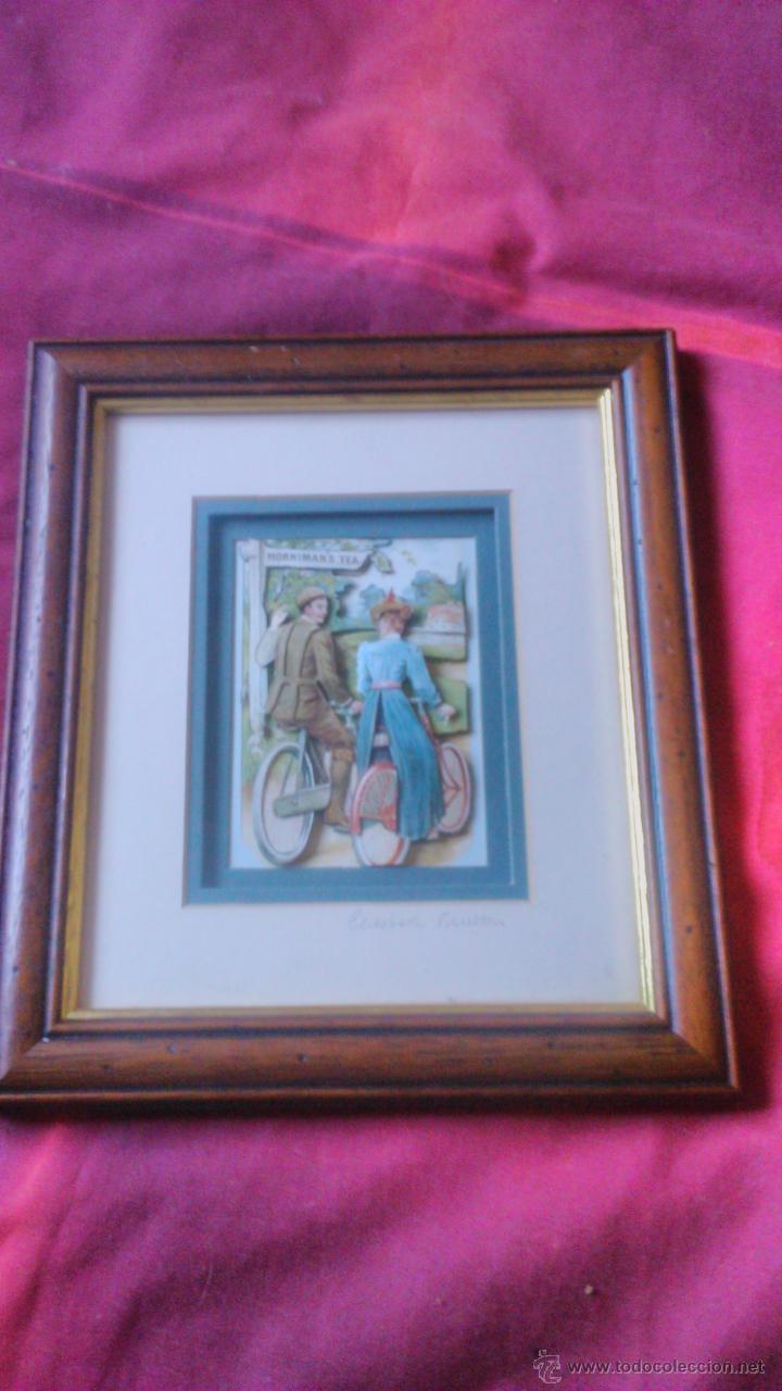Varios objetos de Arte: elizabeth causton studios. cuadro colage en 3d. horniman´s tea firmado por elizabth causton. - Foto 2 - 53066721