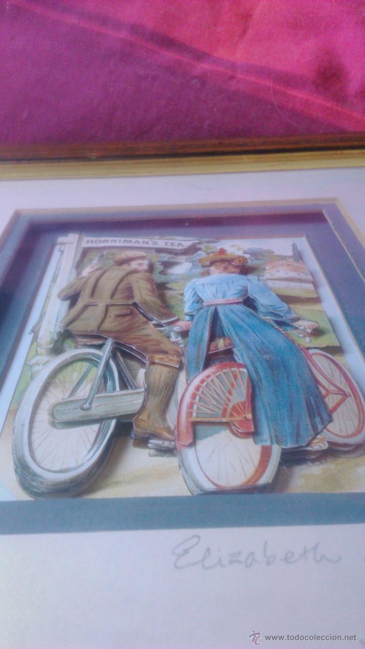 Varios objetos de Arte: elizabeth causton studios. cuadro colage en 3d. horniman´s tea firmado por elizabth causton. - Foto 4 - 53066721