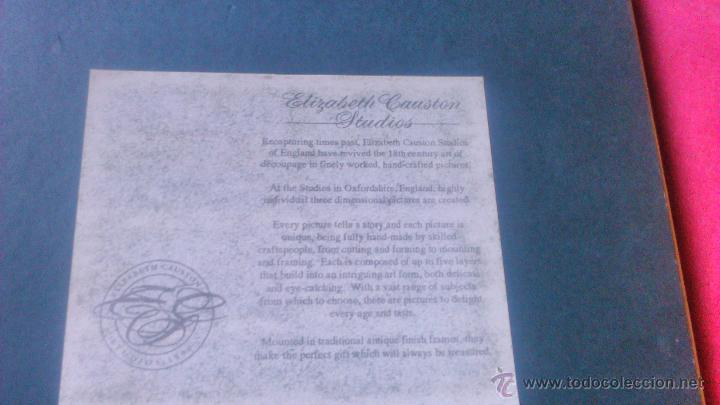 Varios objetos de Arte: elizabeth causton studios. cuadro colage en 3d. horniman´s tea firmado por elizabth causton. - Foto 6 - 53066721