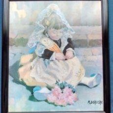 Varios objetos de Arte: CUADRO LAMINA , MARCO DE MADERA. Lote 53178220