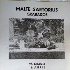 Varios objetos de Arte: POSTER EXPOSICIÓN DE MALTE SARTORIUS. Lote 53396821