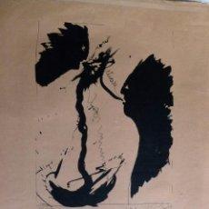 Varios objetos de Arte: CARTEL FIRMADO DE JOSEP VALLRIBERA I FALCÓ 1983 CHRISTIAN LAUNE GALERIE. Lote 53641409