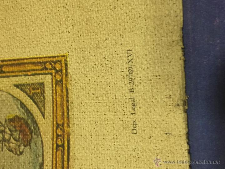 Varios objetos de Arte: REPRODUCION ARTISTICA NUMERADA SOBRE TELA LIENZO MAPA MUNDI SIGLO XVI - Foto 10 - 53788770
