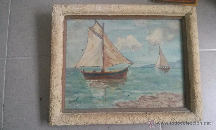 ANTIGUO CUADRO DE PINTURA PINTADO AL OLEO DEL PINTOR DIONNAT AÑO 1952 (Arte - Varios Objetos de Arte)